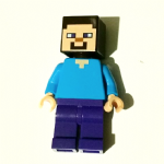 Lego Minecraft Steve minifigure genuine parts